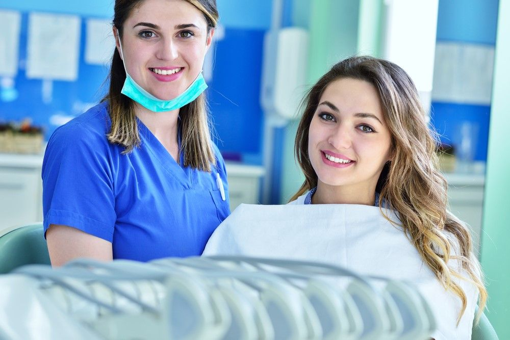 dental crown patient after her procedure